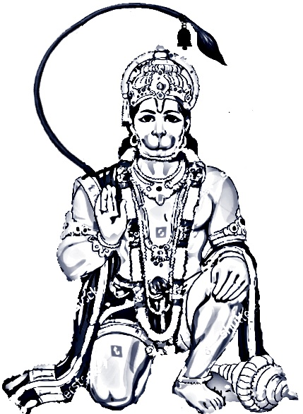 The significance  of  Lord  Hanuman 's tail